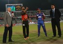 Mahmudullah and Naeem Islam at the toss, Rangpur Riders v Khulna Titans, BPL 2016-17, Dhaka, November 10, 2016