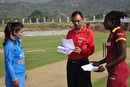 Mithali Raj and Stafanie Taylor at the toss, India v West Indies, 1st women's ODI, Vijayawada, November 10, 2016