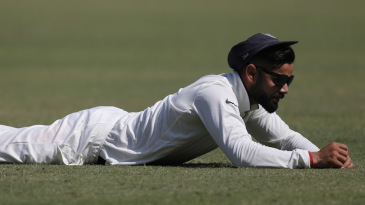 Virat Kohli endured a frustrating day in the field