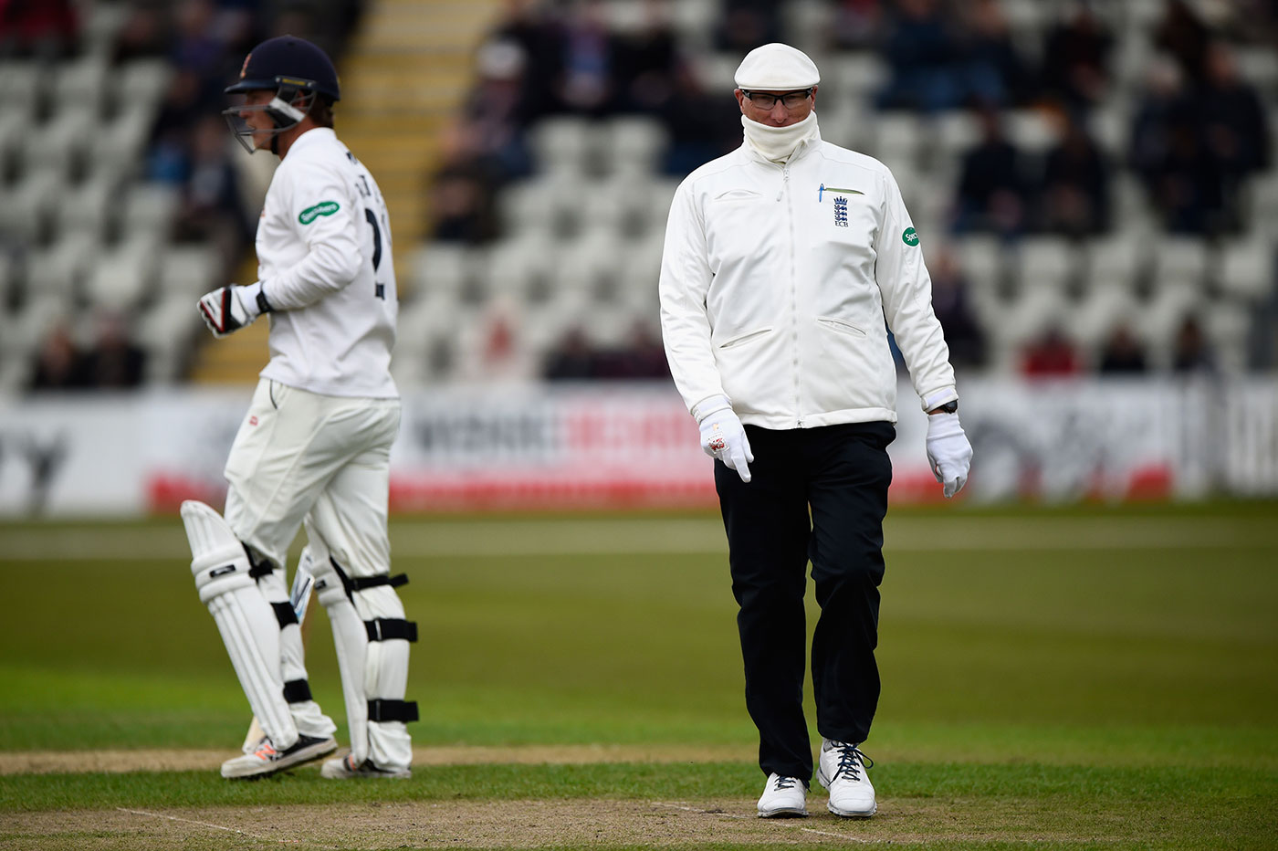 Umpire Neil Mallender is loving the form, function and fashion of this new look