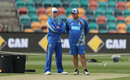 Steven Smith and Darren Lehmann at the Bellerive Oval, Hobart, November 11, 2016