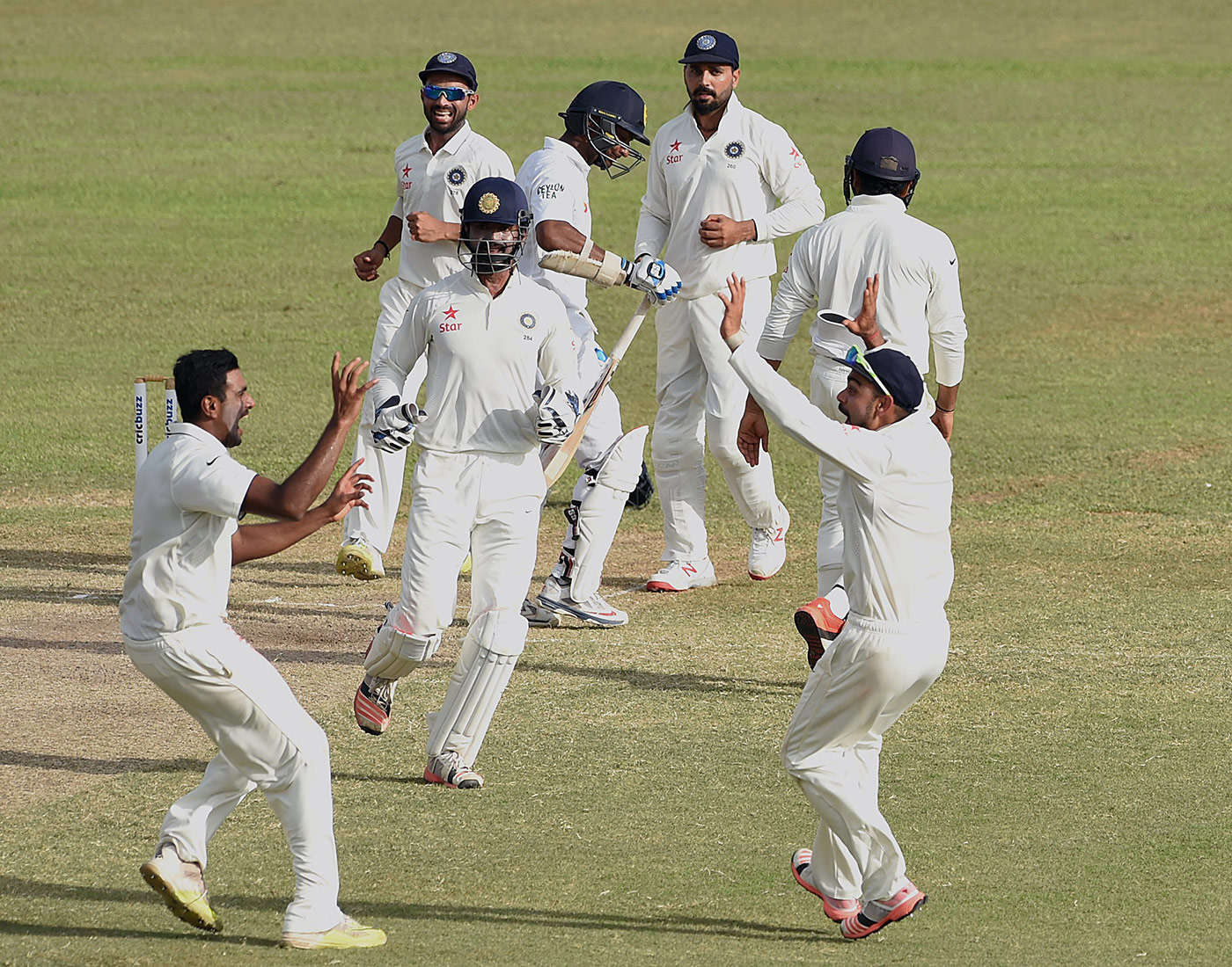 Exeunt Sanga, dismissed for the last time in Tests, by Ashwin