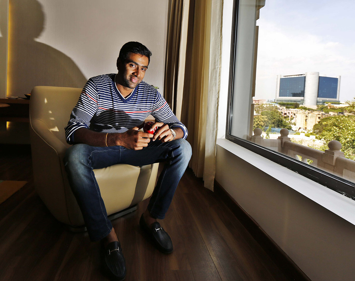 R Ashwin at an interview