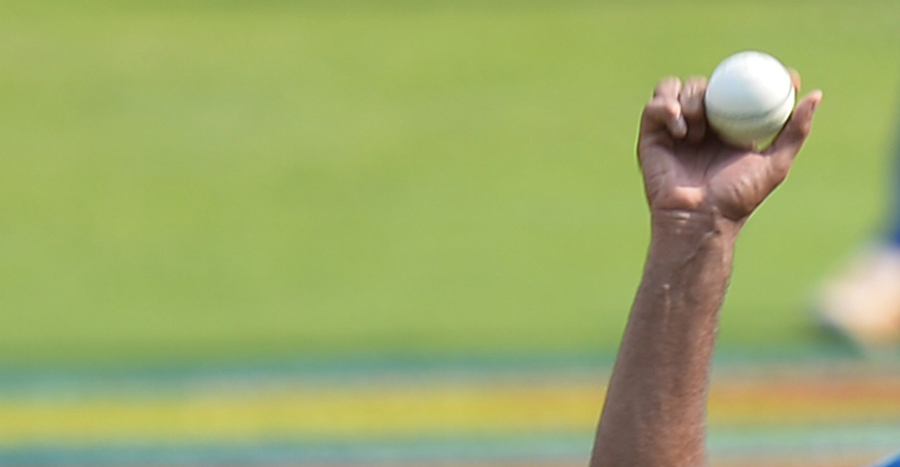 The Ashwin grip, from up close