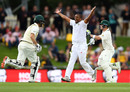 Wickets tumble on overcast day