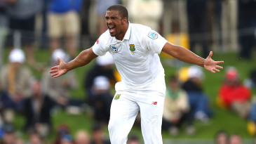 Vernon Philander appeals for a wicket
