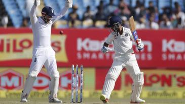 Ajinkya Rahane is bowled by Zafar Ansari