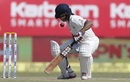 Wriddhiman Saha was pinged on the helmet during his knock of 35, India v England, 1st Test, Rajkot, 4th day, November 12, 2016