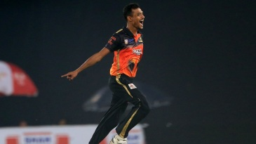 Shafiul Islam exults after picking up one of his four wickets