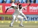 Amit Mishra appeals for a wicket, India v England, 1st Test, Rajkot, 5th day, November 13, 2016