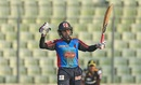 Mushfiqur Rahim celebrates after completing 50 runs,  Barisal Bulls v Rajshahi Kings, BPL 2016-17, Dhaka, November 13, 2016