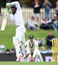 Temba Bavuma gets off his toes to play a short ball, Australia v South Africa, 2nd Test, Hobart, 3rd day, November 14, 2016