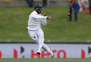 Temba Bavuma throws the ball, Australia v South Africa, 2nd Test, Hobart, 3rd day, November 14, 2016