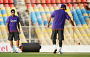 R Ashwin looks at the pitch during a training session ahead of the first Test against England, Motera, Ahmedabad, November 12, 2012