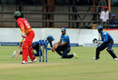 Brian Chari is caught by Kusal Mendis at second slip, Zimbabwe v Sri Lanka, Zimbabwe tri-series 2016-17, Harare, November 14, 2016