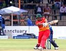 Tinashe Panyangara skews a slog to cover, Zimbabwe v Sri Lanka, Zimbabwe tri-series 2016-17, Harare, November 14, 2016