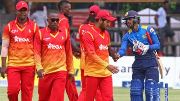 Zimbabwe's players wore disconsolate expressions after a crushing defeat