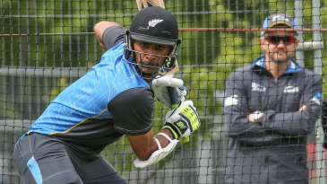 Jeet Raval practises ahead of his Test debut