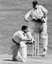 Vinoo Mankad sweeps on his way to 72, England v India, 2nd Test, Lord's, 1st day, June 19, 1952