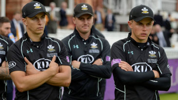 Tom and Sam Curran look on after Surrey's defeat in the Royal London Cup final
