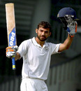 Rajat Paliwal celebrates his hundred, Haryana v Jammu & Kashmir, Ranji Trophy 2016-17, Group C, Cuttack, 2nd day, November 14, 2016