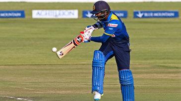 Shehan Jayasuriya works the ball off his hip