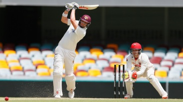 Matt Renshaw drives down the ground during his 108