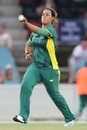 Chloe Tryon runs in to bowl, Australia v South Africa, 1st women's ODI, Canberra, November 18, 2016