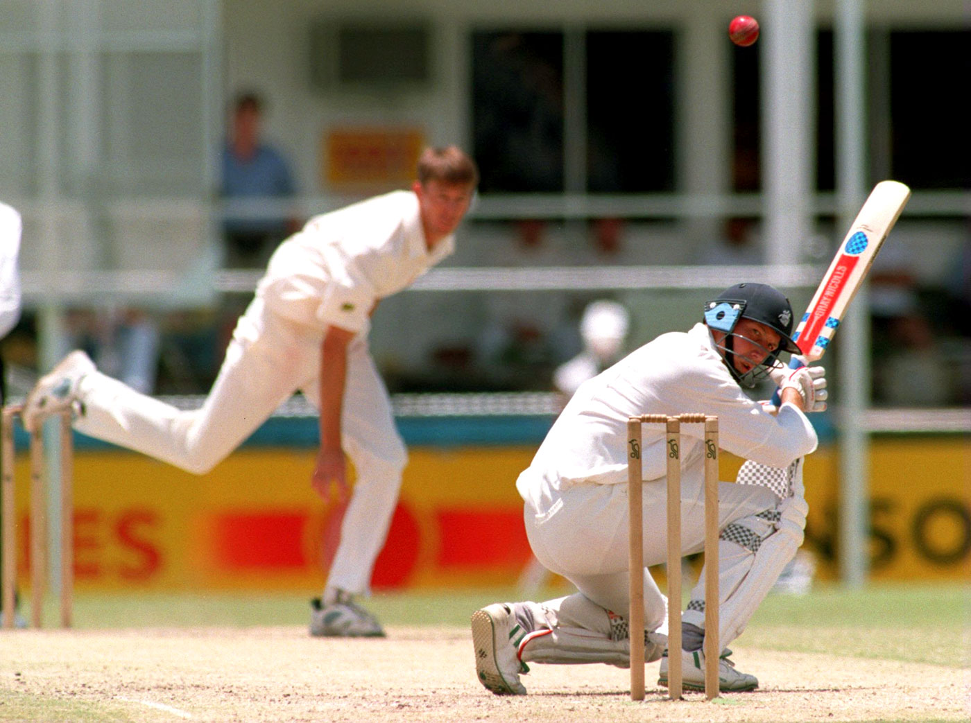 Mike Atherton often was at the receiving end of McGrath's early inconsistency