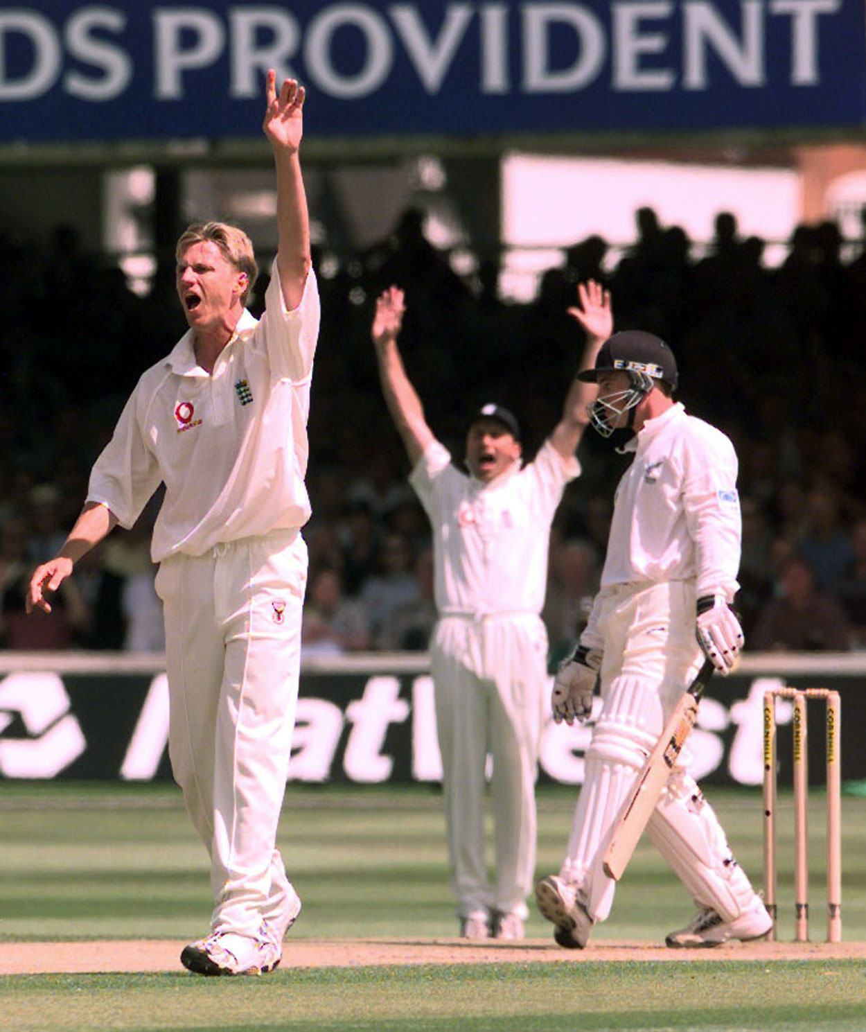 Mullally against New Zealand at Lord's in 1999