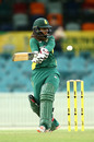 Dinesha Devnarain hits into the legside, Australia v South Africa,  2nd women's ODI, Canberra, November 20, 2016