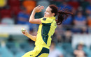 Megan Schutt gets into her delivery stride, Australia v South Africa, 1st women's ODI, Canberra, November 18, 2016