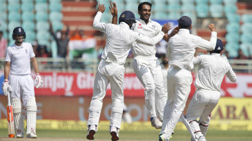 Jayant Yadav produced a wonderful delivery to remove Ben Stokes