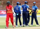 Chamu Chibhabha was trapped in front by Nuwan Kulasekara for 8, Zimbabwe v Sri Lanka, tri-series, Bulawayo, November 21, 2016