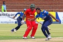 Suranga Lakmal prepares to collect the ball, Zimbabwe v Sri Lanka, tri-series, Bulawayo, November 21, 2016