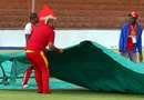 Rain kept the groundstaff busy, Zimbabwe v Sri Lanka, tri-series, Bulawayo, November 21, 2016