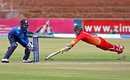 Craig Ervine survived a run-out chance on 16, Zimbabwe v Sri Lanka, tri-series, Bulawayo, November 21, 2016