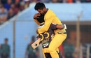 Mehedi Hasan and Sabbir Rahman celebrate Rajshahi's win, Dhaka Dynamites v Rajshahi Kings, BPL 2016-17, Chittagong, November 21, 2016