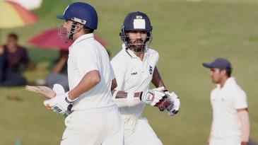 Gautam Gambhir and Shikhar Dhawan take a run
