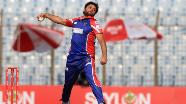 Shahid Afridi's figures of 2 for 30 took him past 250 T20 wickets
