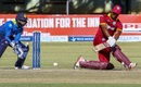 Evin Lewis sweeps during his maiden ODI ton, Sri Lanka v West Indies, tri-series, Bulawayo, November 23, 2016