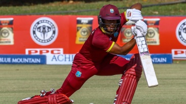 Shai Hope pushes one through the off side