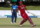 Evin Lewis completes a run en route to his 148, Sri Lanka v West Indies, tri-series, Bulawayo, November 23, 2016