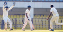 Paidikalva Vijaykumar celebrates after dismissing Sanju Samson, Andhra v Kerala, Ranji Trophy 2016-17, Group C, Guwahati, 3rd day, November 23, 2016