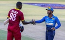 Jason Holder shakes hands with Upul Tharanga, Sri Lanka v West Indies, tri-series, Bulawayo, November 23, 2016