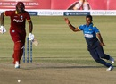 Nuwan Kulasekara hit the blockhole in the slog overs, Sri Lanka v West Indies, tri-series, Bulawayo, November 23, 2016