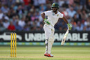 Temba Bavuma tries to take his bottom hand off after nicking behind, Australia v South Africa, 3rd Test, Adelaide, 1st day, November 24, 2016