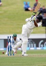 Jeet Raval plays a flick, New Zealand v Pakistan, 2nd Test, Hamilton, 1st day, November 25, 2016