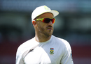 Faf du Plessis before the start of play, Australia v South Africa, 3rd Test, Adelaide, 2nd day, November 25, 2016