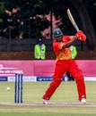 Hamilton Masakadza slaps one through the off side, Zimbabwe v West Indies, tri-series, Bulawayo, November 25, 2016